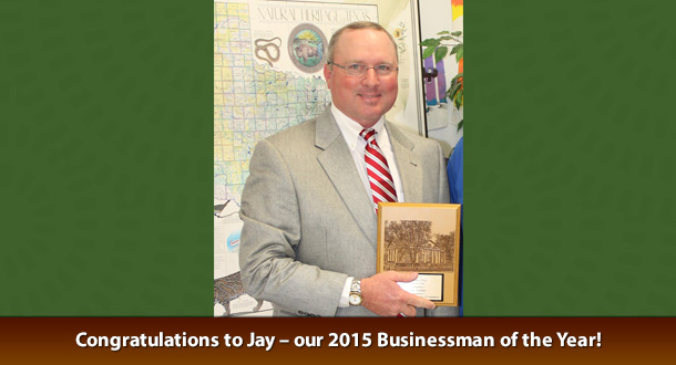 Congratulations to Jay – our 2015 Businessman of the Year!