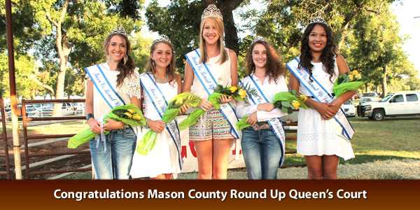Congratulations Mason County Round Up Queen's Court!!!