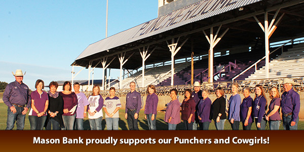 Mason Bank proudly supports our Punchers and Cowgirls!
